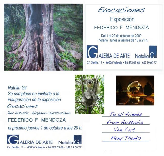 Ffmendoza - exhibition Invitation -Evocaciones Valencia