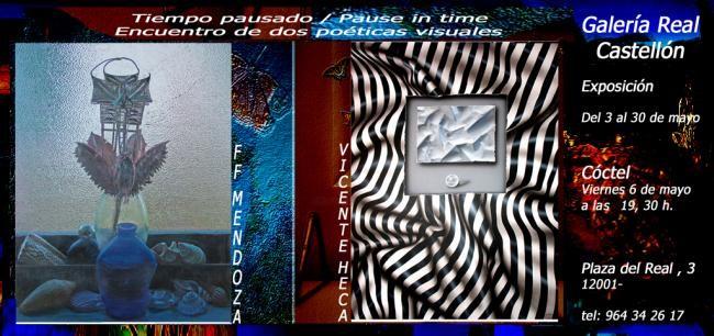 Ffmendoza - Invitation of the exhibiton pause in time -Castellon Spain