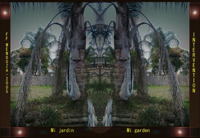 Ffmendoza - Changing faces in mi garden,the palm tree