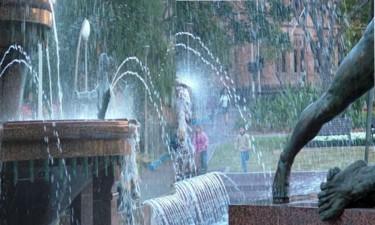 Sydney City fountain