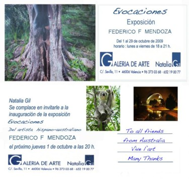 exhibition Invitation -Evocaciones Valencia