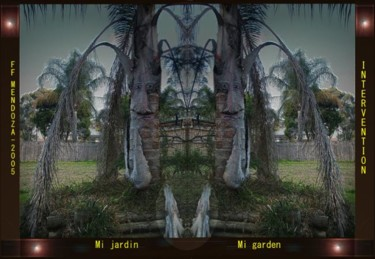 Changing faces in mi garden,the palm tree